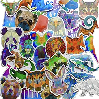Water Bottle Stickers 35 Pack - Trendy/Cute/Aesthetic/Cool Animal Decals - Car/Bike/Helmet/Laptop/Vinyl/Phone/Skateboard/Bumper Decal - Adults/Teen/Girl/Boy Travel Sticker Packs - Small Stick Labels