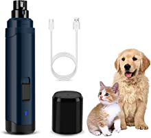 Rimposky Dog Nail Grinder with 2 Speed & 3 Ports,Rechargeable Electric Pet Nail Trimmer for Cats, Large, Medium & Small Dogs,Low Noise & Quiet,paw Perfect Nail Trimmer, Grooming Kit, Trimming Tool