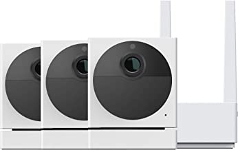 Wyze Cam Outdoor Bundle (Includes Base Station and 3 Cameras), 1080p HD Indoor/Outdoor Wire-Free Smart Home Camera with Ni...