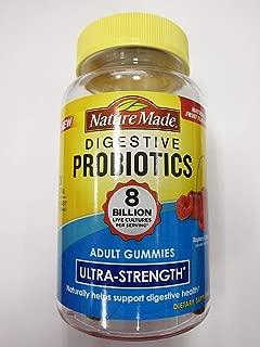 Nature Made Digestive Probiotics Ultra-Strength, Raspberry & Cherry, 42 Gummies (Pack of 2)