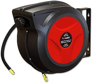 REELWORKS Air Hose Reel Retractable Spring Driven Polypropylene Heavy Duty Industrial 3/8