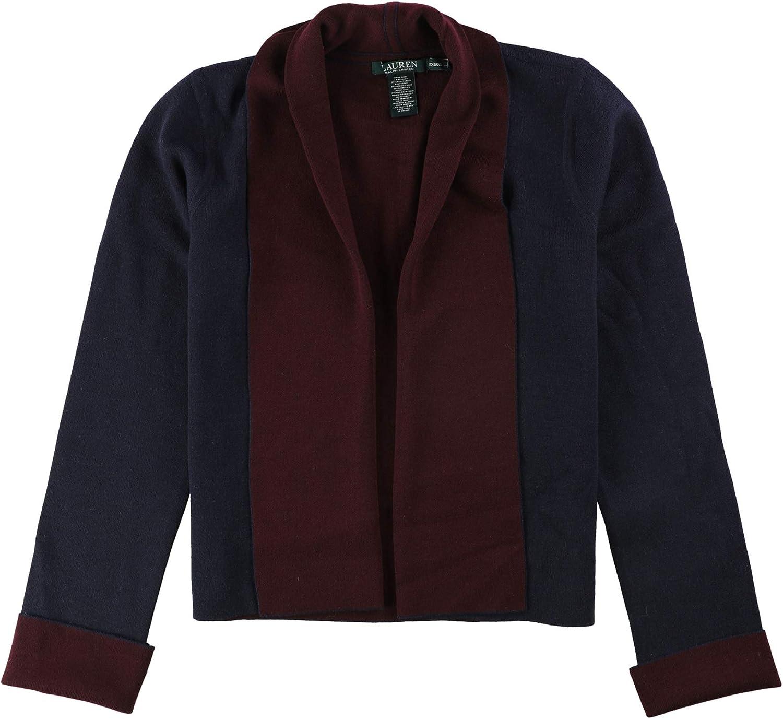 Ralph Lauren Womens Reversible Cardigan Sweater Navyred L Xl