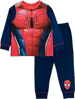 Spiderman Pijama largo para niños, diseño de Marvel Avengers