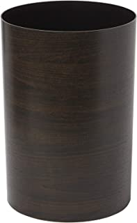 Umbra Treela Small Trash Can – Durable Garbage Can Waste Basket for Bathroom, Bedroom, Office and More | 4.75 Gallon Capacity with Stylish Walnut Finish]