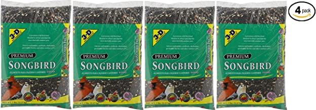 3-D Pet Products Premium Songbird Food Dry Bird Food, 7 LB - Pack of 4