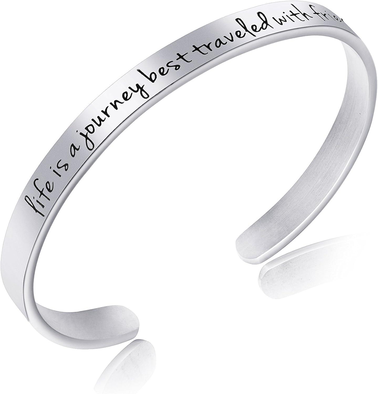 Inspirational Encouragement Motivational Bracelets for Women Engraved Jewelry Birthday Christmas Gift for Her Teen Girls