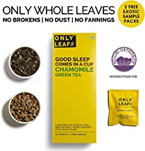 Onlyleaf Chamomile Green Tea,  27 Tea Bags (25 Tea Bags + 2 FREE Exotic Samples)