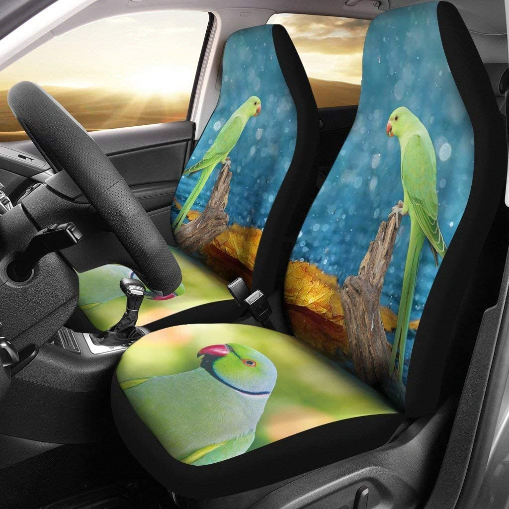 Super beauty product restock quality top! RoseRinged Parakeet Print discount Covers Car Seat