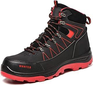 Lufria Hommes Femmes Chaussures de sécurité d'hiver,Bottes de sécurité doublées de Velours,Chaussures de Travail Chaudes l...