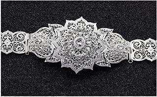Decorative Belt Fashion Gold Color Flower Wedding Belts Buckle For Women Adjust Length Waist Chain 3 Color Body Jewelry