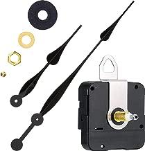 High Torque Quartz Clock Movement Clock Replacement Mechanism with 12 Inch Long Spade Hands for DIY Clock (Black, Shaft Length 1/10 inches/ 23 mm Shaft Length)