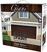 Giani Wood Look Garage Door Paint Kit, 2 Car, Black Walnut