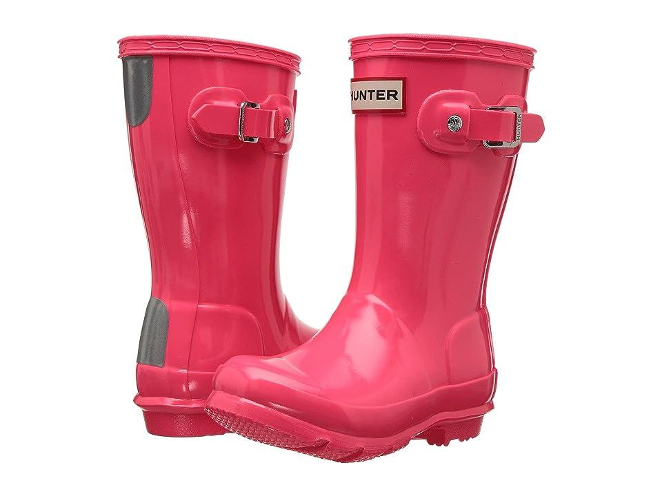 Hunter Kids Original Gloss (Toddler/Little Kid) (Hyper Pink) Girls Shoes
