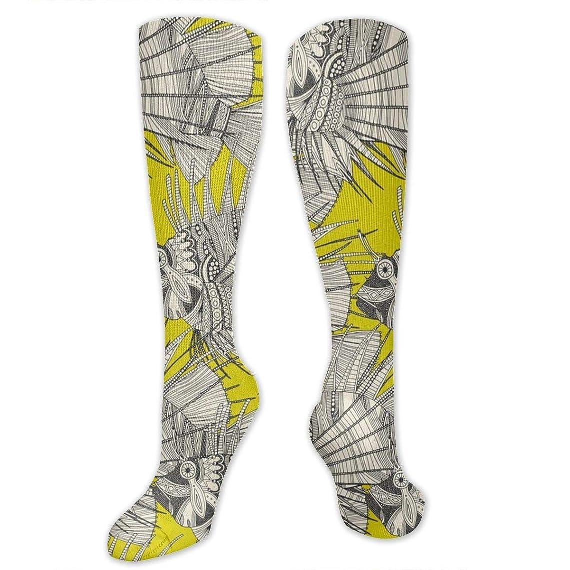 ジョージバーナード情熱的隣人靴下,ストッキング,野生のジョーカー,実際,秋の本質,冬必須,サマーウェア&RBXAA Fish Mirage Chartreuse Socks Women's Winter Cotton Long Tube Socks Knee High Graduated Compression Socks