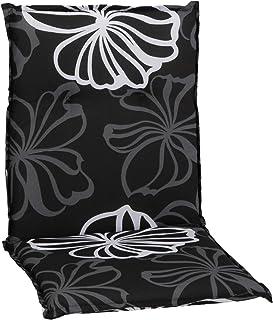 Gartenstuhl-Kissen Almohada Cojines para sillas de jardín Respaldo bajo Flores de Color Gris Plata