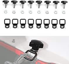 Jecar 8 Hardtop Quick Removal Bolts Thumb Screws & 8 D Ring Tie Down Anchors for Jeep Wrangler YJ JK JKU JL JLU Sports Sahara Freedom Rubicon X Unlimited X 2 4 door 1995-2019 accessories(Black)