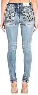 Miss Me Women's Wing Embellished Pocket Easy Skinny Jeans