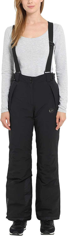 (XSmall, Black)  Ultrasport Women's Softshell Ski Pants Solden with Ultraflow 5.000