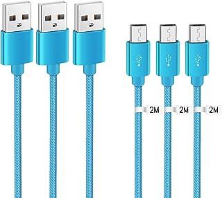 Kit Me out Cavo Cavetto Micro USB per Motorola Moto G5S [3 Pezzi 2M] [3.1 Amp] Trasferimento Dati e Ricarica Rapida, Intre...