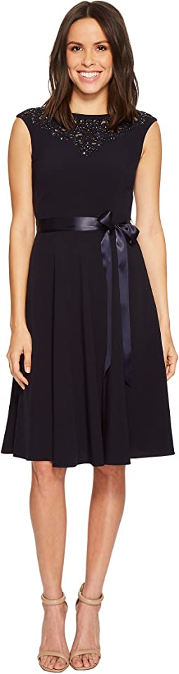 Beaded Neckline Shift Dress