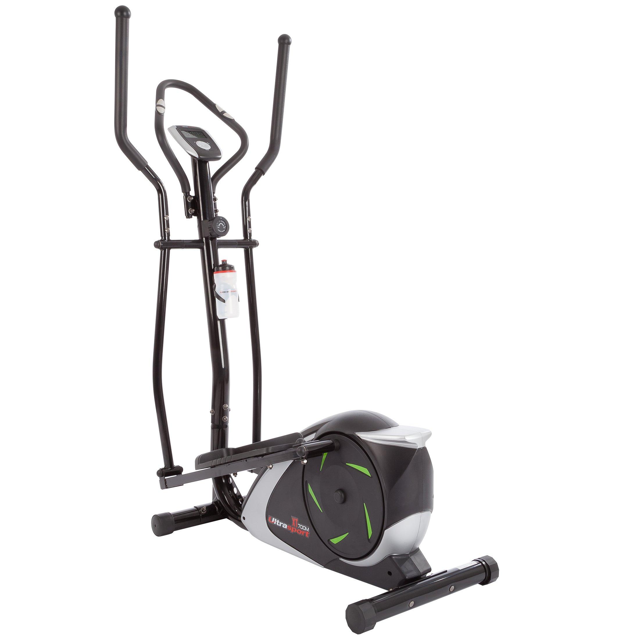 Ultrasport Bicicleta elíptica para casa con sensores de Pulso y 12 ...