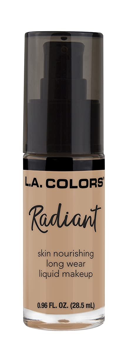 レザー正しいパースL.A. COLORS Radiant Liquid Makeup - Medium Tan (並行輸入品)