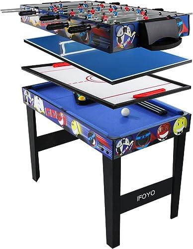 IFOYO 31,5 in Multifunktions 4 in 1 Steady Combo Spiel, Hockey Tisch, Fußball Fußball, Tisch, Pool, Tischtennis Tisch, Small 31.5in