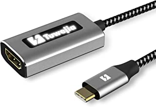 USB Type C to HDMI 変換 アダプタ 4K@60Hz解像度, Tuwejia Thunderbolt 3 アダプタ バックライトインジケーター付き MacBook Pro/MacBook Air 2018 2019/ Mac mini/iPad Pro 2018/2019, Microsoft Surface Go/Book 2, Samsung Galaxy S9/S10/Note9/USB C デバイスに対応