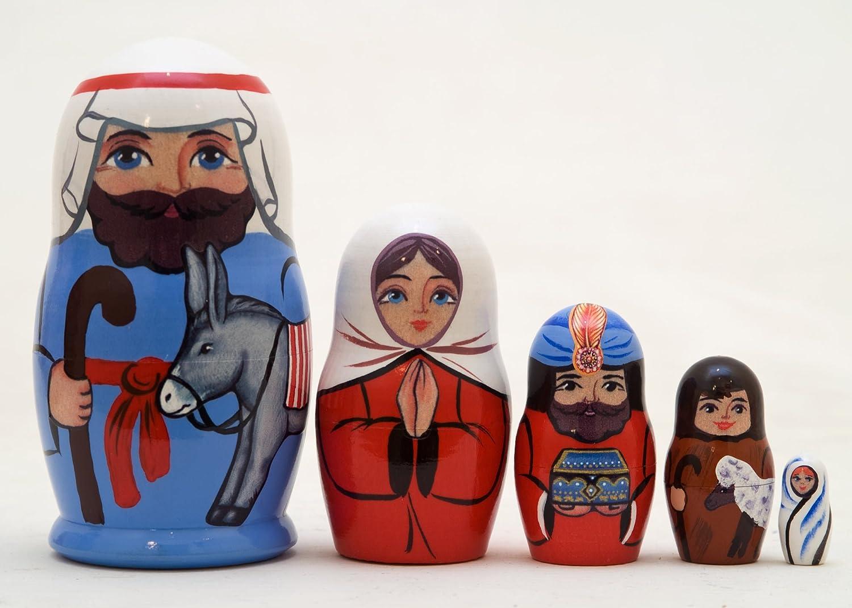 Baby Jesus 5 Piece Russian Wood Matryoshka Stacking Nesting Doll Max Max 57% OFF 89% OFF