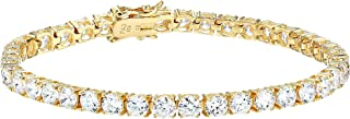 Best cubic zirconia tennis bracelet gold Reviews