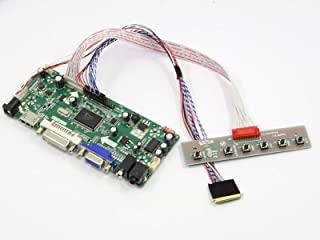 HDMI+DVI+VGA LCD Controller driver board Diy Kit for HSD140PHW1-A00 1366X768