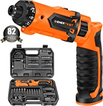 Enertwist Cordless Screwdriver, 8V Max 10Nm Electric Screwdriver Rechargeable Set with 82 Accessory Kit and Charger in Car...