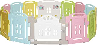 Dream On Me 14 Panel Groovy Play Center/Play Pen/Playard, Multi Colors