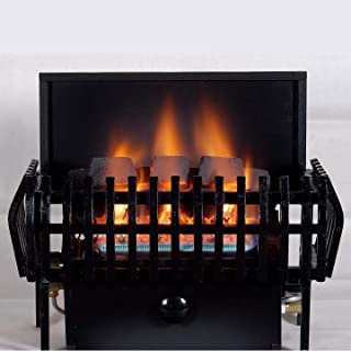 Rasmussen 16-inch Chillbuster Fireplace Set With Vent Free Propane Coalfire Classic Style Basket Burner - Manual Safety Pilot