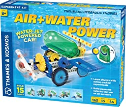 Thames & Kosmos Air + Water Power | Build 15 Pneumatic & Hydraulic Models | Powered by Air + Water | 48 Page Full Color Ex...