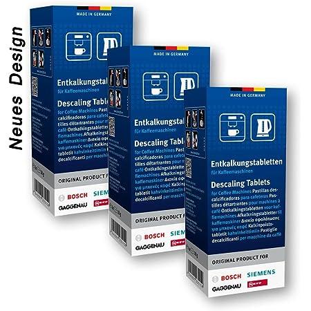Bosch Lot de 3 packs de 6 tablettes anti-calcaire pour machine à café et bouilloire