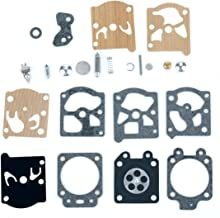 Milttor K20-WAT Carburetor Rebuild Kit Diaphragm Gasket Needle Repair Carb Kit for Carb Echo Homelite Husqvarna Chainsaw String Trimmer K20WAT