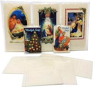 Set of 20 Polish Christmas Wafers Oplatki (12 Large & 8 Small)