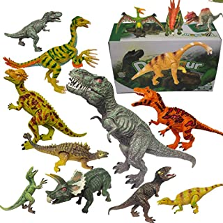 Dinosaur Toys for Kids and Boys Realistic Figures Educational for Kids,with Movable Jaws,Including T-Rex, Velociraptor Etc...
