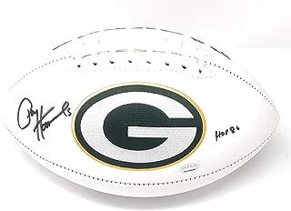 Paul Hornung Green Bay Packers Signed Autograph Embroidered Logo Football Hornung GTSM Player Hologram