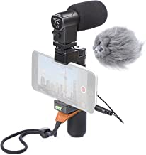 Movo Smartphone Video Rig with Stereo Microphone, Grip Handle, Wrist Strap for Apple iPhone 5, 5S, 6, 6S, 7, 8, X, XS, XS Max, 11, 11 Pro, Samsung Galaxy S5, S6, S7, S8, S9, Note Smartphones