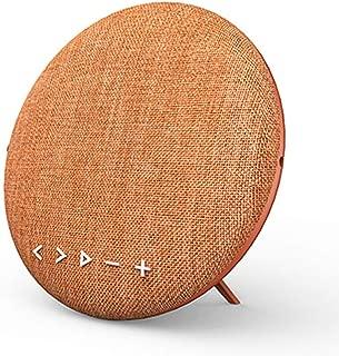 GLJJQMY Wireless Bluetooth Speaker Subwoofer Fabric Speaker Station Portable Outdoor Sports Home Vertical Desktop (Color : Orange)