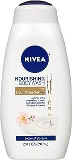 NIVEA Nourishing Botanical Blossom Body Wash - with Nourishing Serum - 20 Fl. Oz. Bottle