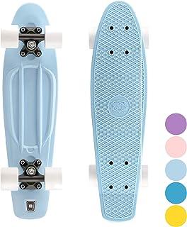 Xootz Cruiser Skateboard, für Kinder geeignet, im Retro-Design, aus Plastik, gebrauchsfertig
