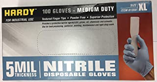 5 mil Nitrile Powder-Free Gloves 100 Pc X-Large by HARDY