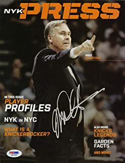 Coach Mike D'Antoni SIGNED New York Knicks Program Full Mag AUTOGRAPHED - PSA/DNA Certified - Autographed NBA Magazines