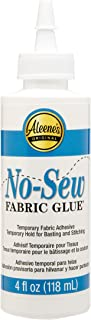 Aleene's 15626 No-Sew Fabric Glue ,Multicolor,4 oz