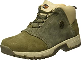 Woodland Men's Olive Green Leather Boot 10 UK/India (44 EU)-(OGB 0706109)