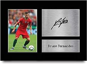 HWC Trading A4 Bruno Fernandes Portugal geschenken afgedrukt ondertekende handtekening foto voor fans en supporters - A4