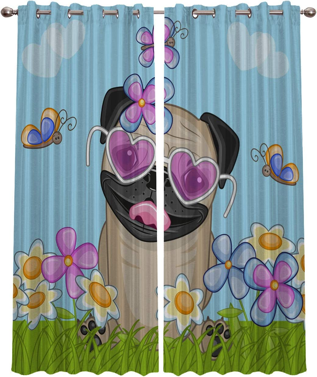 Blackout Cheap mail order shopping Curtains Window Treatment Puppy Lovely Curtain-Cartoon Our shop most popular